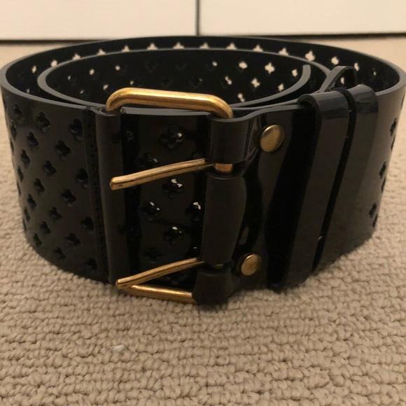 c710c43a2c2 Yves Saint Laurent Accessories | Euc Ysl Black Patent Leather Belt ...